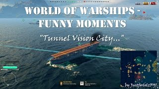 World of Warships - Epic & Funny Moments | Tunnel Vision City