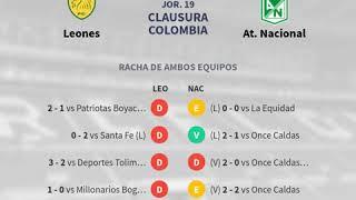 Previa Leones vs At. Nacional - Jornada 19 - Clausura Colombia 2018 - Pronósticos y horarios