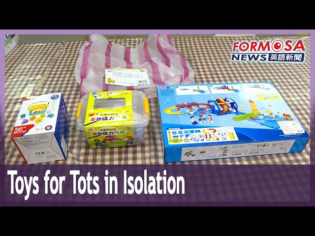 New Taipei sends new toys to kids stuck in quarantine hotels