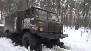 ГАЗ 66 нереально круто разрывает бездорожье off-road 4x4