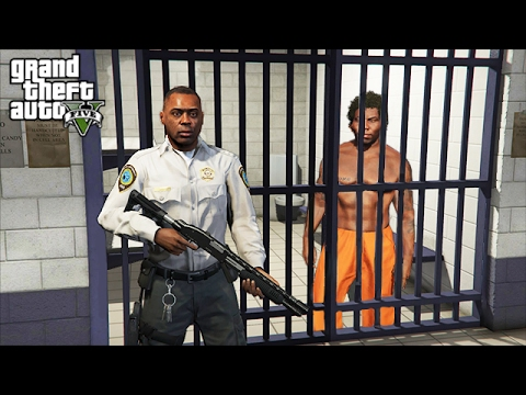 BECOMING A PRISON GUARD!! (GTA 5 Mods PLAY AS A COP MOD)