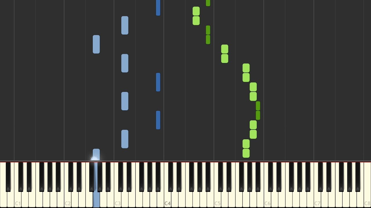 Chopin Spring Waltz Mariage D Amour [Piano Tutorial] Synthesia