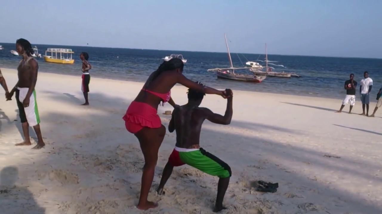Funny Kenyan Women On The Beach - Youtube-2979