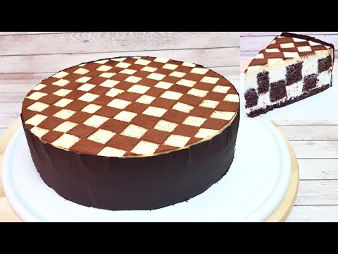 TARTA AJEDREZ con Galletas Oreo- Chess Cake