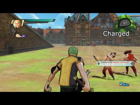 ONE PIECE: Pirate Warriors 3 | Zoro moveset showcase 「ワンピース 海賊無双3」