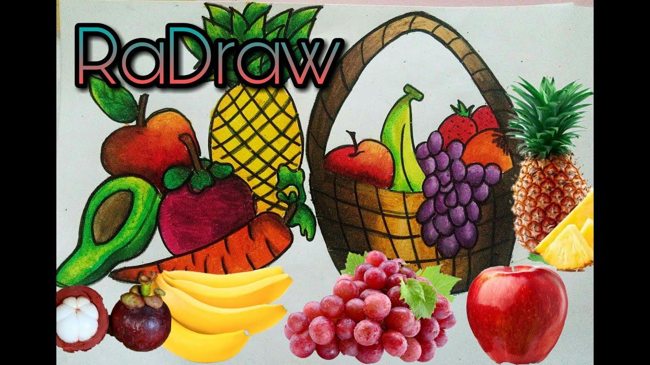 mewarnai buah buahan caranyaa