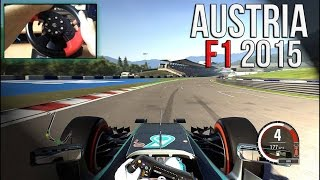 F1 2015 - Race at Austrian GP with Gembrid MV-02 Steering Wheel