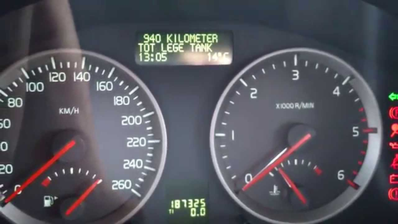 Kasowanie Inspekcji Volvo V50 S40 Oil Service Indicator