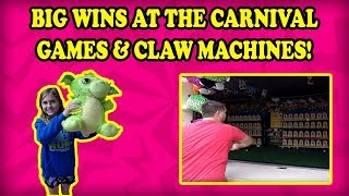 Carnival Games & Claw Machines at The Kemah Boardwalk! Fair Games! Down The Clown! Tub Toss & MORE!