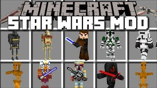 Minecraft STAR WARS MOD / FIGHT AND SURVIVE DARTH VADER LIGHTSABERS!! Minecraft Mods
