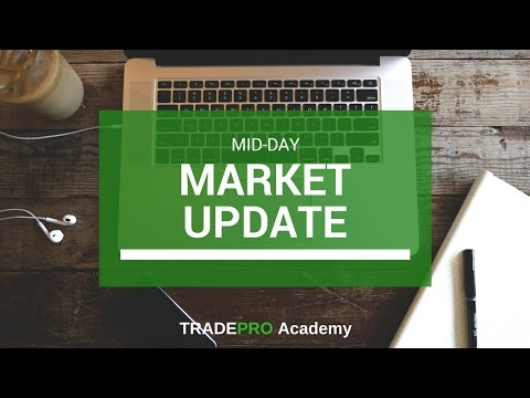 Stock market update and options trade - dollar drops, along with stocks and oil, gold trades higher.