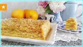 ИДЕАЛЬНЫЙ НАПОЛЕОН С АПЕЛЬСИНОВЫМ КРЕМОМ - рецепт без яиц от Мармеладной Лисицы