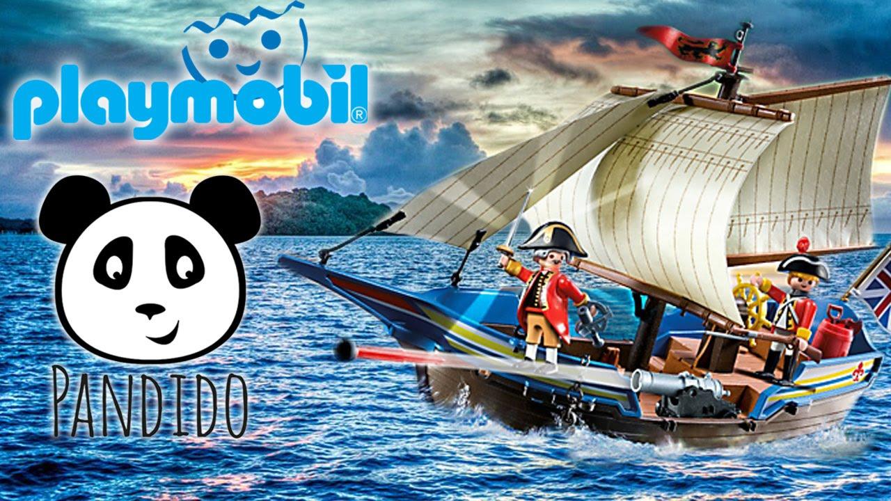 Playmobil piratas en espa ol barco de los soldados 5140 for Barco pirata playmobil