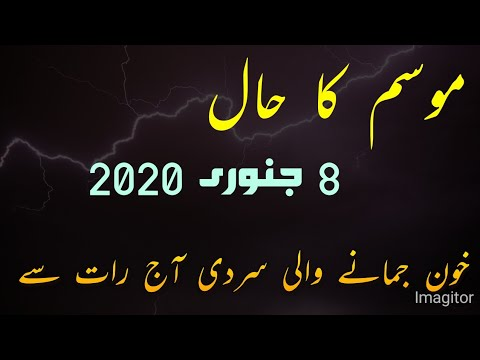 Weather Update Today Pakistan Met Office Weather Report For Pakistan Weather Forecast 8 January 2020