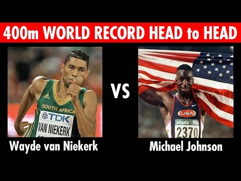 Wayde van Niekerk vs Michael Johnson 400m World Record Head to Head Race!