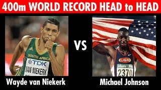 Wayde van Niekerk vs Michael Johnson 400m World Record Head to Head Race!