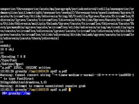 dd, awk, less を使ってPDFからテキスト抽出 (part 1/4)