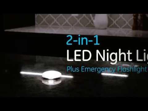 07bc7f7e4bd GE 2-in-1 LED Night Light (39052) - YouTube