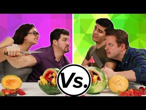 Couple Vs Couple Pinterest Fruit Challenge Youtube