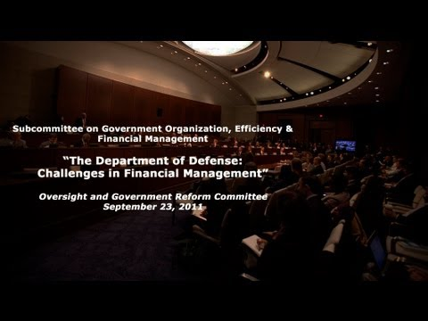 """The Department of Defense: Challenges in Financial Management"""