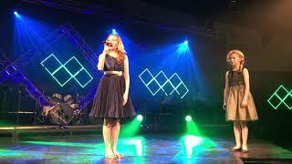 Freya and Matilda sing For Good at school cabaret evening