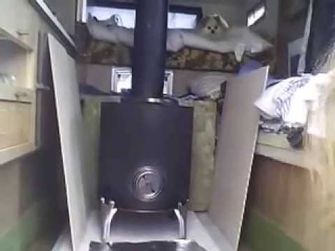 Bush Girl Installs Wood Stove in Truck Camper - Bush Girl Installs Wood Stove In Truck Camper - YouTube