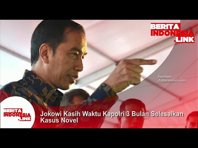 Presiden Jokowi kasih waktu kepada Kapolri untuk selesaikan kasus Novel Baswedan.