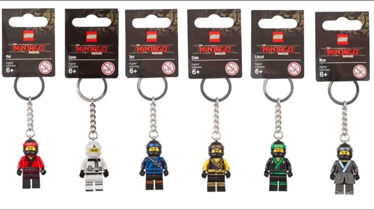 LEGO THE NINJAGO MOVIE KAI MINIFIGURE KEY CHAIN