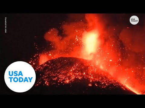 Mount Etna erupts for 4th time in a week,  debris shoots over 1 kilometer above volcano   USA TODAY
