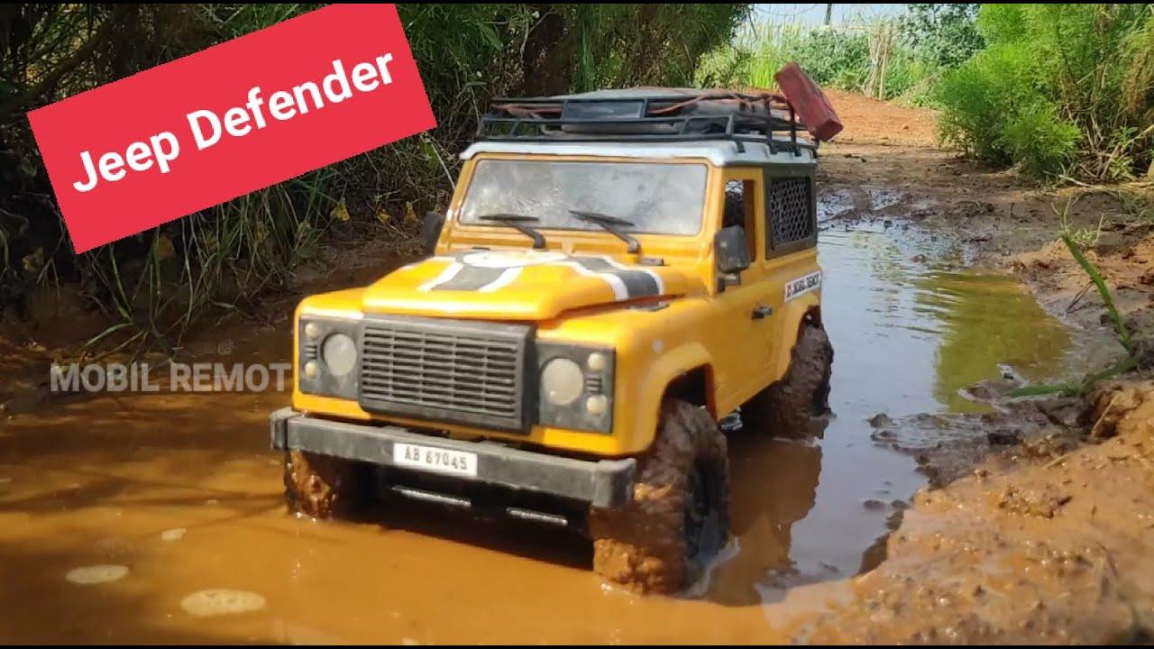Yellow Car OFFROAD DEFENDER RC Mania mobil REMOT CONTROL