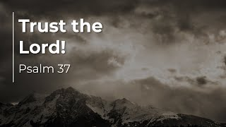 Psalm 37:1-40   Trust the Lord!