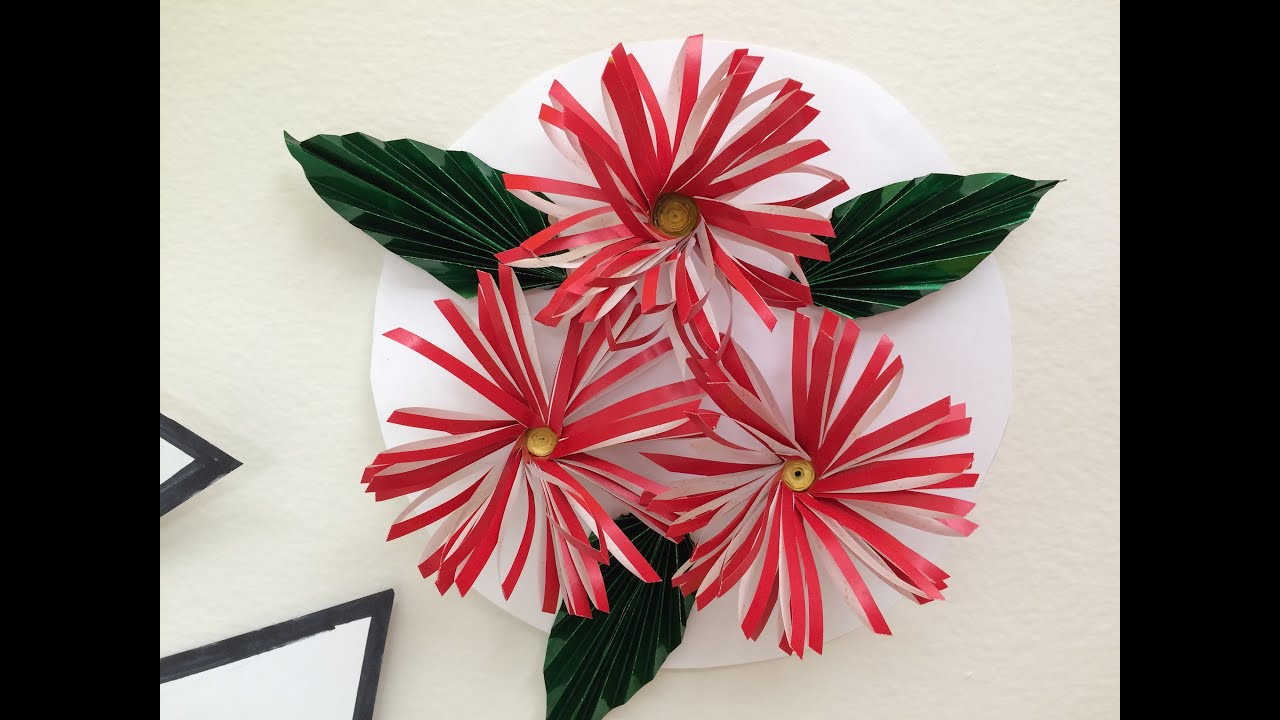 Easy Daisy Flower Made With Paper Youtube
