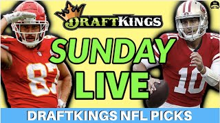 DRAFTKINGS NFL PLAYOFF PICKS CONFERENCE CHAMPIONSHIP PICKS LIVE | FANTASY FOOTBALL DFS PICKS