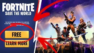 *NEW* How To Get Fortnite Save The World For Free! (PS4, XBOX, PC) 2019 Season 8