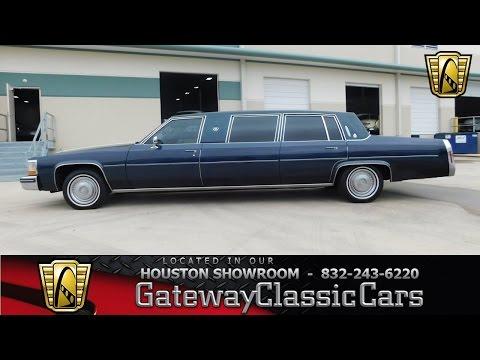 1984 Cadillac Limousine Gateway Classic Cars Houston #519
