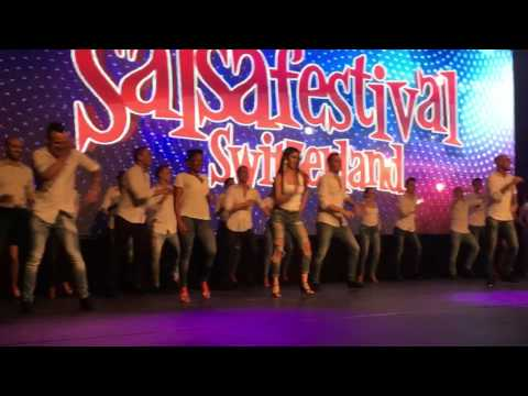 All artists dancing 'No Hace Falta Nada' theme at Salsa Festival Switzerland 2017 (Zurich)
