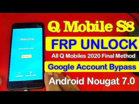 QMobile S8 Frp Unlock Google Account Bypass Without Pc Android 7.0 New 2...