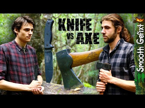AXE vs KNIFE - Battle for the Ultimate Cutting Tool!