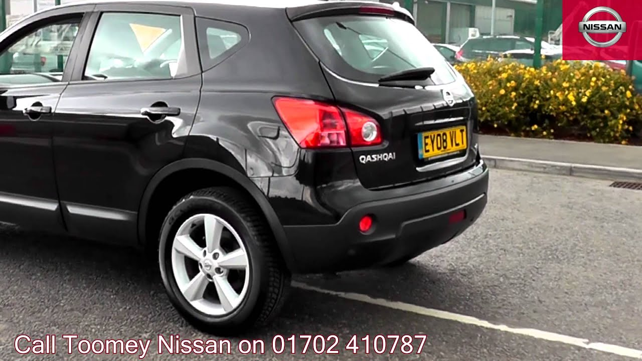 2008 nissan qashqai tekna black ey08vlt for sale at toomey nissan southend youtube. Black Bedroom Furniture Sets. Home Design Ideas