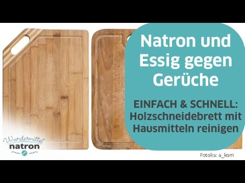 holzschneidebrett reinigen mit natron und essig youtube. Black Bedroom Furniture Sets. Home Design Ideas