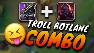 Nasus + Sion Support TROLL BOTLANE COMBO - League of Legends
