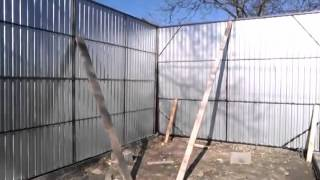 каркасный гараж своими руками(Строительство каркасного гаража из металлопрофиля., 2016-04-27T10:59:06.000Z)