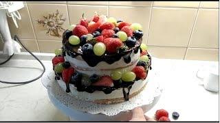 Праздничный торт!Рецепт нежного, вкусного и очень красивого бисквитного торта!