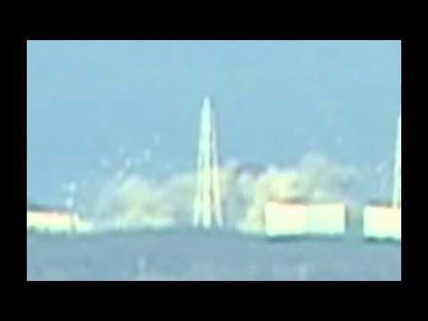 Japan earthquake: explosion