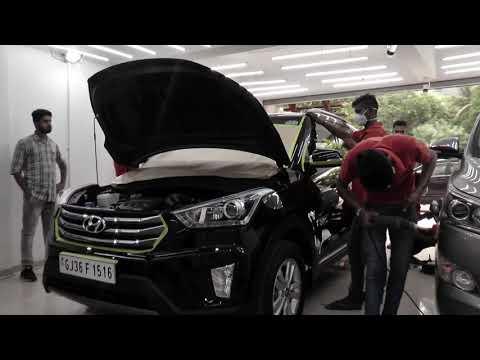 Ceramic Coating on Brand New Hyundai Creta at Creative Motors Ahmedabad