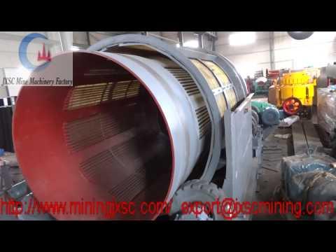 Operation Testing Of Gold Trommel Scrubber