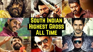 20 South Indian Highest Grossing Movies List Of All Time | Vijay, Prabhas, Yash, Rajinikanth