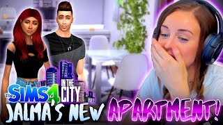🏬JALMA FINALLY MOVES!🙌 (The Sims 4 IN THE CITY #5! 🏩)