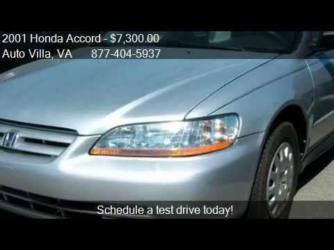 Auto Villa Danville Va >> 2001 Honda Accord Vp For Sale In Danville Va 24540 Youtube