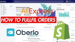 How to FULFILL An Order On Shopify Using Oberlo